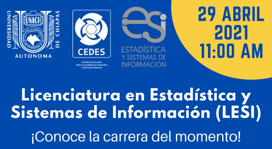Plática informativa de la Licenciatura en Estadística y Sistemas de Información (LESI).